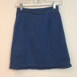Asos Blue Denim Midi / Mini Skirt 0
